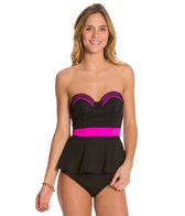 Betsey Johnson Animal Attraction Mesh Bump Me Up Tankini Top