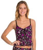 Betsey Johnson Kiss Tankini Top