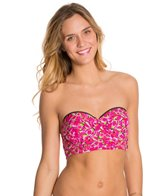 Betsey Johnson True Romance Bump Me Up Underwire Bandeau Bikini Top