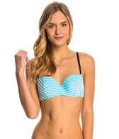 Betsey Johnson Stripes Allure Bump Me Up Underwire Bandeau Top
