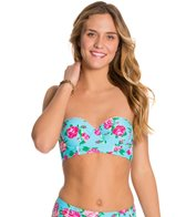 Betsey Johnson Garden Rose Bump Me Up Underwire Bandeau Top