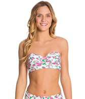 Betsey Johnson Garden Rose Bump Me Up Underwire Bandeau Bikini Top