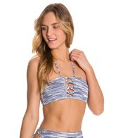 Roxy Road Less Traveled Lace Up Bandeau Top