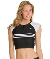 Adidas 3 Stripe Crop Top Rashguard