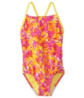 Speedo Girls' Tie Dye Blaze Keyhole One Piece (7yrs-16yrs)