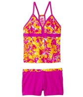 Speedo Tie Dye Blaze Boyshort Two Piece (7yrs-16yrs)
