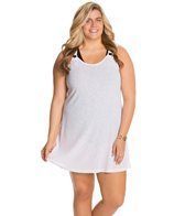 J.Valdi Plus Size Poor Boy Rib Onionskin Ring Tank