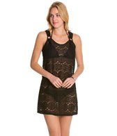 J.Valdi Medallion Crochet Ring Tank Cover Up Dress