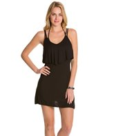 J.Valdi Rayon Spandex Double Strap Ruffle Dress