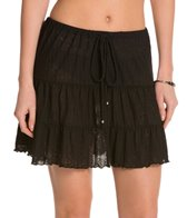 J.Valdi Poor Boy Rib Onionskin Tiered Skirt