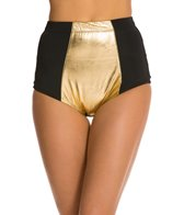 Kingdom & State Gold Panel Bombshell High Waisted Bikini Bottom