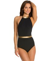 Kingdom & State Knockout Gold Panel High Neck One Piece