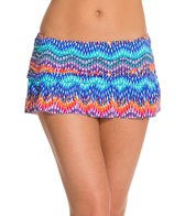La Blanca Waves of Change Ruffle Swim Skirted Hipster Bikini Bottom