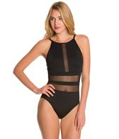 La Blanca Pretty Revealing Hi-Neck OTS Mio One Piece