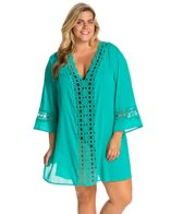 Plus Size Solid Intuition Cover-Up Tunic