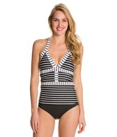 Anne Cole Simple Stripe Bandeau Tankini Top
