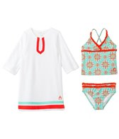 Cabana Life Girls' Maldives Two Piece Swimsuit and Terry Cover Up Set (2T-6yrs)