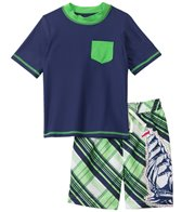 Cabana Life Boys' Pirate Swim Shorts and S/S Rashguard Set (5-7yrs)