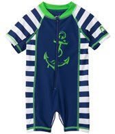 Cabana Life Boys' Anchor Infant Rashguard Onesie (3-24mos)