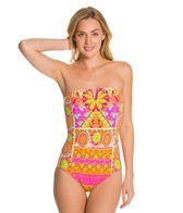 Trina Turk Woodblock Floral Bandeau One Piece