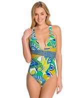 Trina Turk Amazonia Cross Back One Piece