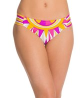 Trina Turk Fiji Feathers Shirred Side Hipster Bikini Bottom