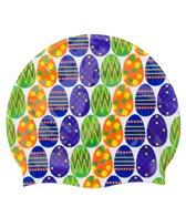 Sporti Easter Eggs Silicone Swim Cap