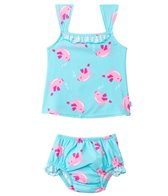 iPlay Girls' Bird Mod Ultimate Swim Daper Two Piece Tankini Set (3mos-3yrs)