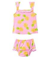 iPlay Girls' Pineapple Mod Ultimate Swim Daper Two Piece Tankini Set (3mos-3yrs)