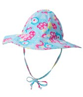 iPlay Girls' Peacock Mix 'N Match Rerversible Brim Sun Protection Hat (0mos-4yrs)
