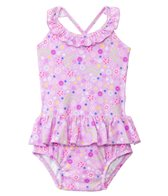 iPlay Girls' Wildflower Classics Ultimate Swim Diaper Tuffle Tanksuit (3mos-3yrs)