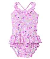 iPlay Girls' Wildflower Classics Ultimate Swim Diaper Tuffle Tanksuit (3mos-3yrs)