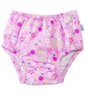 iPlay Girls' Wildflower Classics Ultimate Ruffle Snap Swim Diaper (3mos- 4yrs)