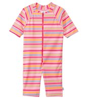 iPlay Girls' One Piece Zip Sunsuit
