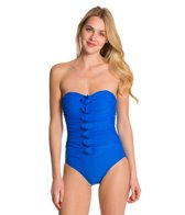 Ceeb Solid Bandeau Tufts One Piece