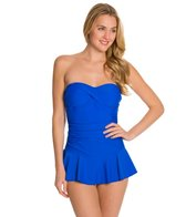 Ceeb Solid Bandeau Skater One Piece