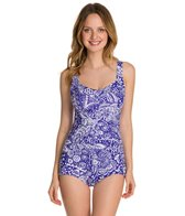 Maxine Patchwork Paisley Shirred Front Girl Leg One Piece
