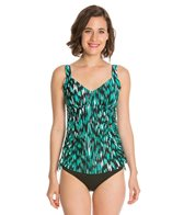 Maxine Fantastic Side Shirred Underwire Tankini Top