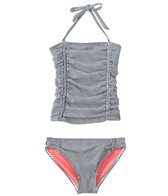 Jessica Simpson Girls' Seersucker Halter Tankini Set (7yrs-16yrs)