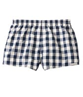 Sauvage Plaid Swimmer Retro Swim Shorts