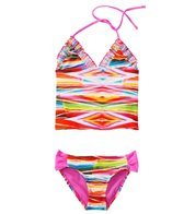 Raisins Girls' Tribal Wave Pacific Palisades Tankini Two Piece Set (4yrs-6X)