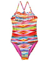 Raisins Girls' Tribal Wave Fringe One Piece (7yrs-16yrs)