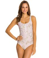 Cynthia Rowley One Piece Scuba Front Zip