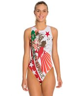 HARDCORESPORT Women's California Water Polo One Piece Swimsuit