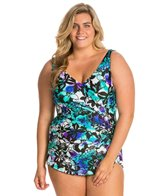Maxine Plus Size Fauna Crescent Hard Cup Sheath One Piece