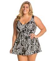 Maxine Plus Size So Chic Empire Swimdress
