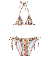 PilyQ Girls' Sunbeam Embroidered Tri Bikini Set (2T-4T)
