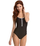 Nautica Signature Zip Front One Piece