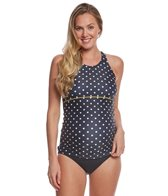 EQ Swimwear Dots and Sunflowers Maternity Tankini Swimsuit Top