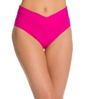 Sunsets Solid V-Front High Waisted Bottom